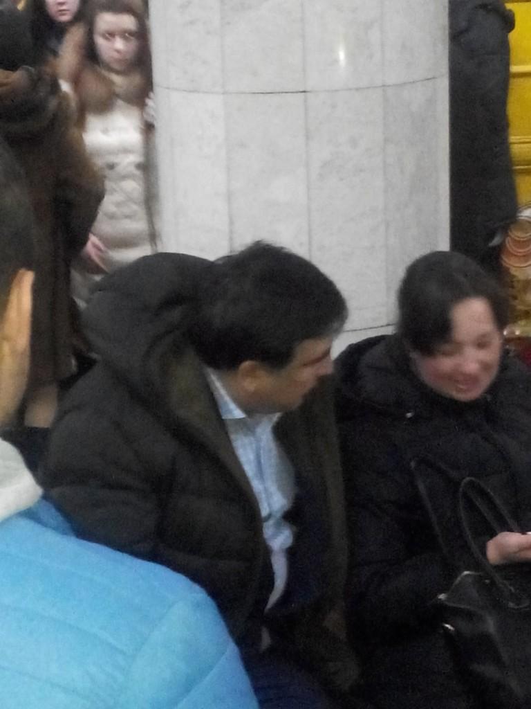 Михеил Саакашвили спустился в харьковское метро