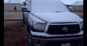 В Кувейте впервые пошел снег
