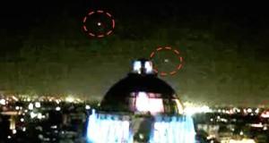 НЛО над монументом в Мехико 3 февраля 2016