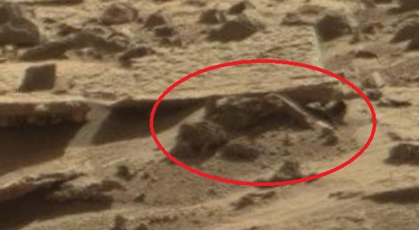Останки человекоподобного существа на Марсе